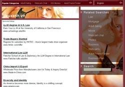 Giao diện trang web lauxanh.vn hiện nay.