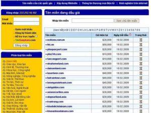 """Website rao bán tên miền tự do với giá """"cắt cổ"""""""