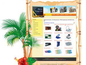 Dự án thiết kế web thiết bị trường học