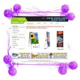 Dự án web vật tư quảng cáo
