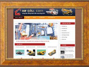 Thiết kế web xe cẩu