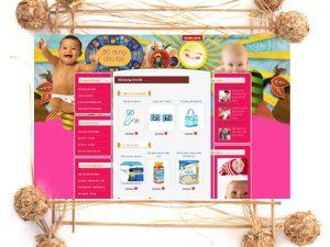 Dự án thiết kế web đồ dùng cho bé