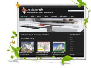 Thiết kế web dự án nhà đất