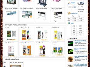 Thiết kế website siêu thị vật liệu