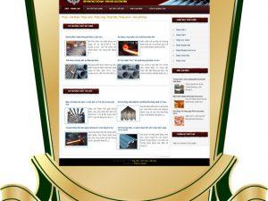 Dự án thiết kế website nghành công nghiệp sắt thép