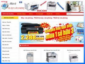 Thiết kế website thiết bị máy văn phòng