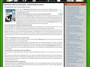 Dự án website đỉnh cao kinh doanh