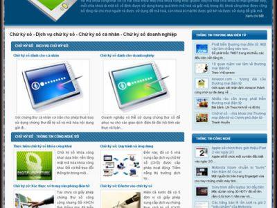Thiết kế web chữ ký số