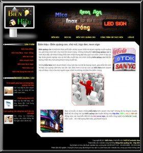 Thiết kế web biển hiệu