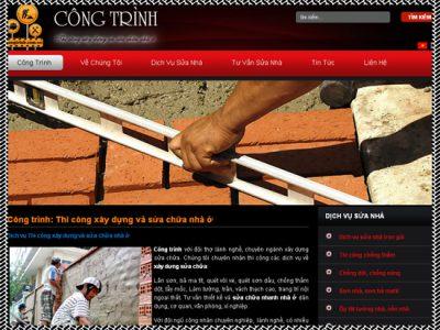 Thiết kế website công trình - Dịch vụ sửa nhà
