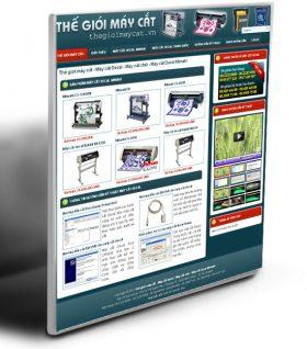 Thiết kế website thế giới máy cắt