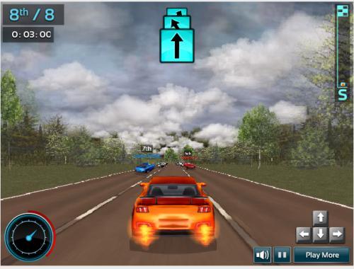 Chơi game đua xe ô tô siêu hạng