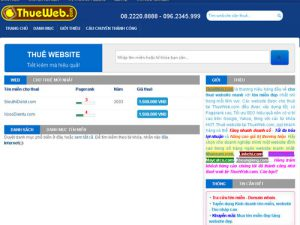 Cho thuê website