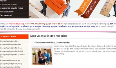 Dịch vụ chuyển dọn nhà chuyên nghiệp: Chuyendon.com