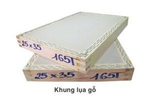 Khung in lụa bằng gỗ: Khung.com.vn