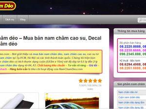 Nam châm cao su - Decal nam châm: Namchamdeo.com