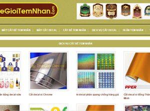 Tem nhãn - In ấn tem nhãn - Máy cắt bế tem: Thegioitemnhan.com