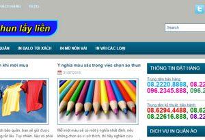 In áo thun - Dịch vụ in áo, mũ nón: Inaolaylien.com