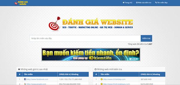 Đánh giá website, định giá trị website