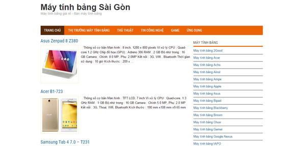 Máy tính bảng Sài Gòn