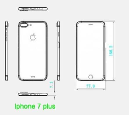Sơ đồ thiết kế của iPhone 7 Plus.