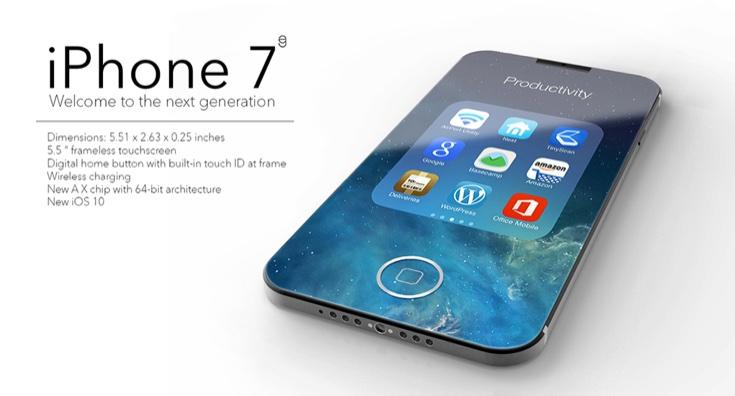 iPhone 7 hiện nay rất được chờ đợi tới ngày ra mắt.